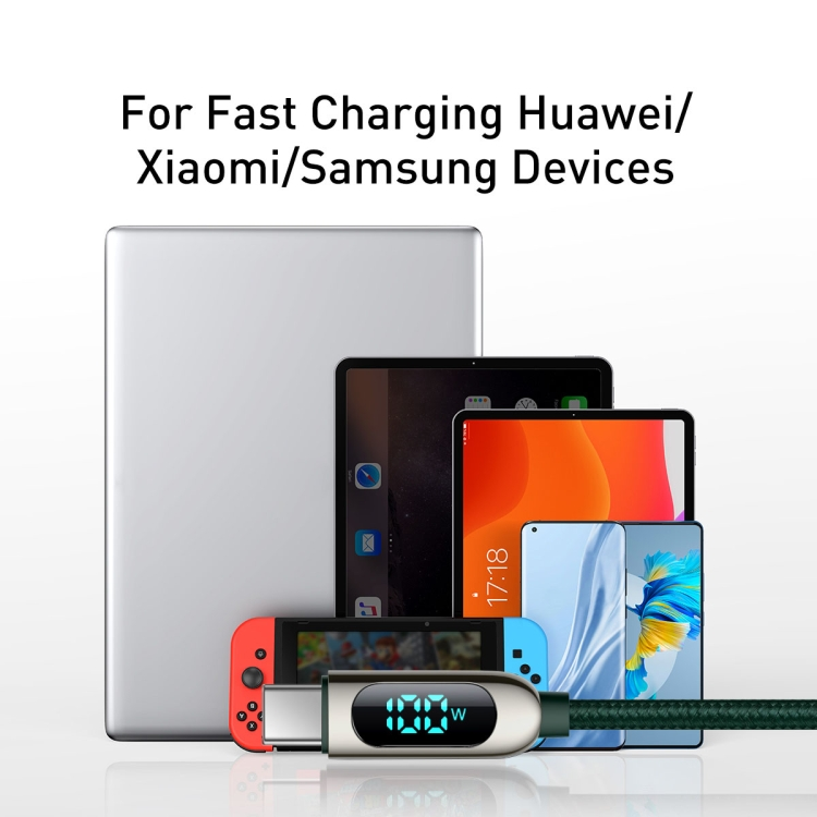 Baseus CATSK-C06 Fast Charging Datový Kabel USB-C - USB-C 100W 2m Green 10